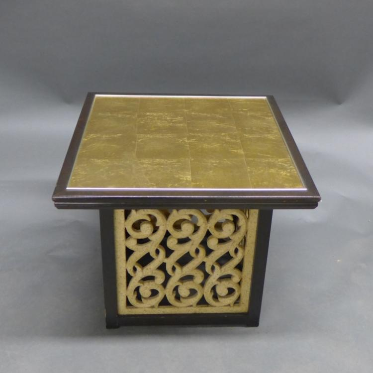 End Table with Gold Leaf Top