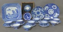 Grouping of Blue and White Serving Ware