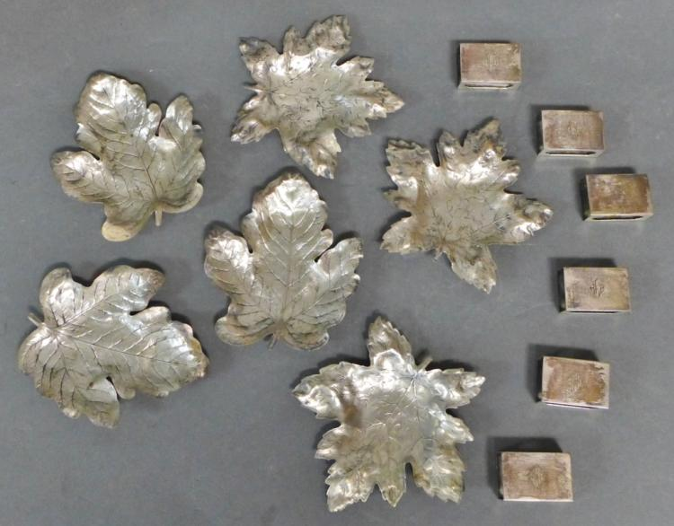 Sterling Silver Ashtrays and Match Box Covers
