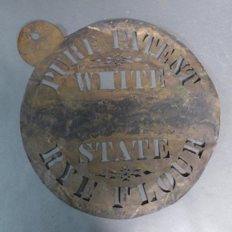 Antique Brass Barrel Stencil