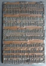 Antique Letterpress Printers Music Plate