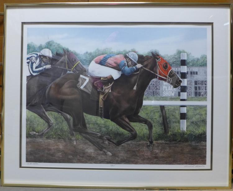 Gualoh Lubeck Horse Racing Lithograph