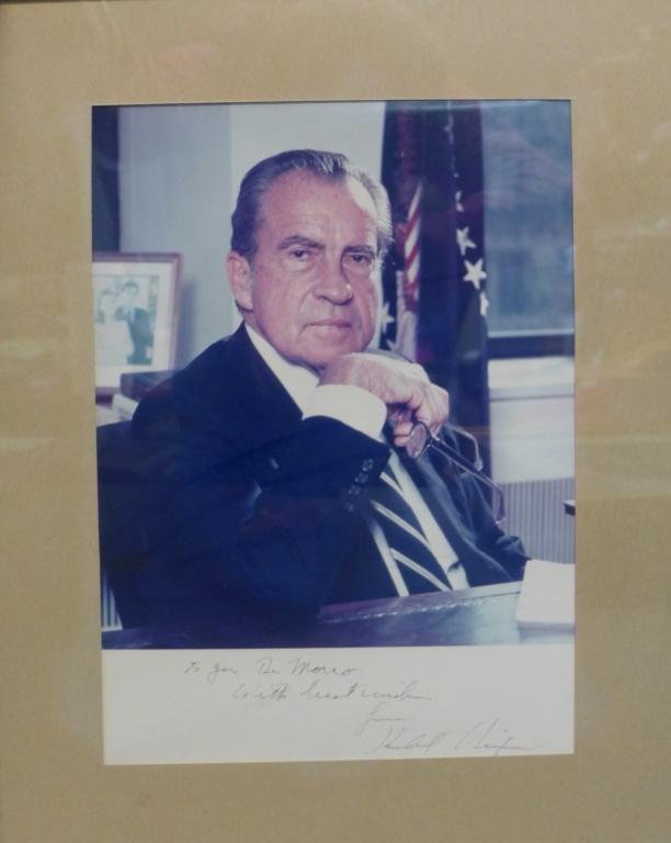 Autographed Photo of Richard Nixon