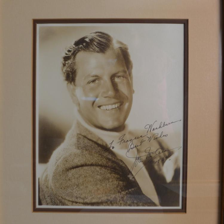 Actor Joel McCrea Autographed Photo.