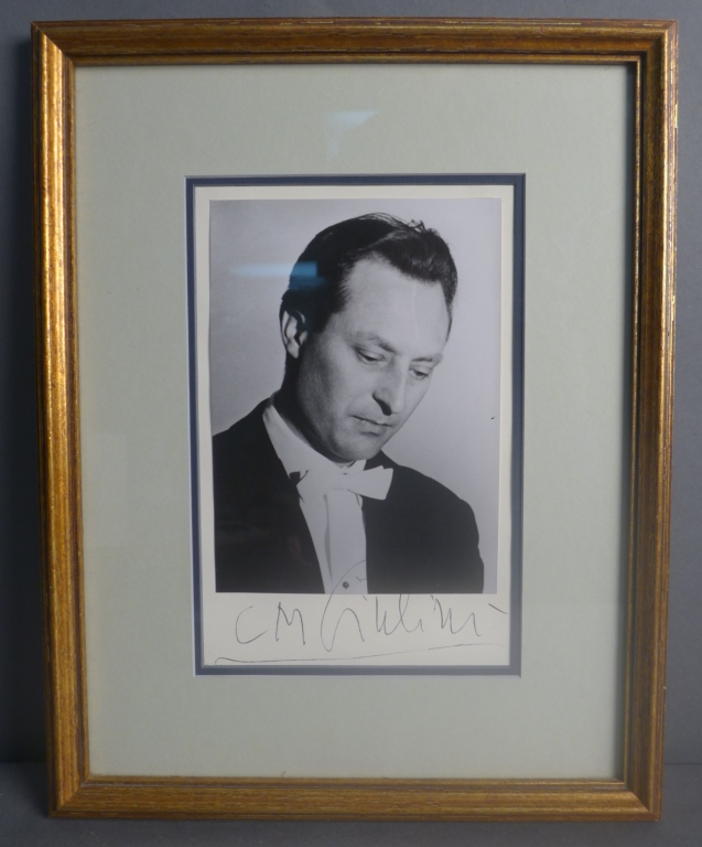 Composer Carlo Maria Giulini Autographed Photo