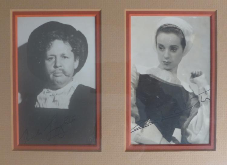 Signed Photos Elsa Lanchester & Charles Laughton