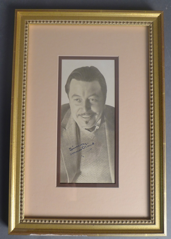 Autographed Warner Oland Photo