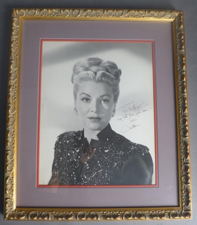 Claire Trevor Autographed Photo