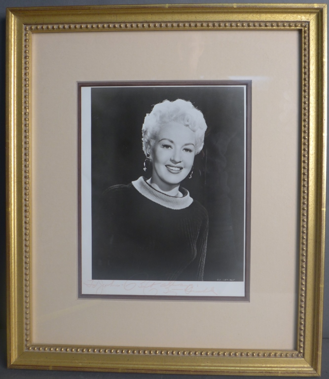 Betty Grable Autographed Photo