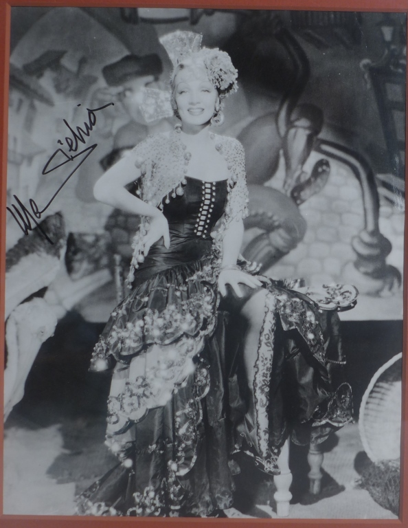 Marlene Dietrich Autographed Photo