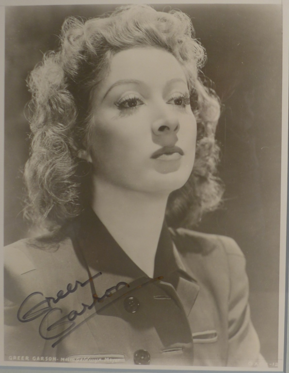 Autographed Photo of Actress Greer Garson