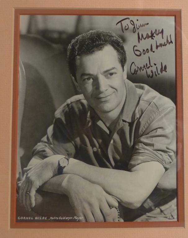 Autographed Photo of Cornel Wilde