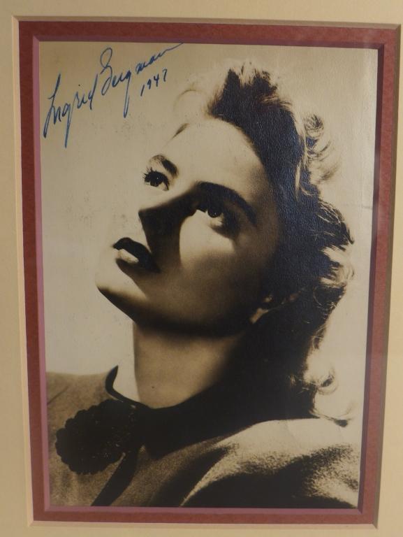 Ingrid Bergman Autographed Photo