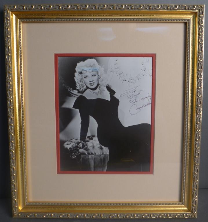 Mae West Autographed Photo
