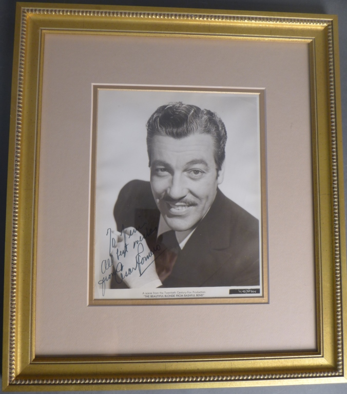 Cesar Romero Autographed Photo
