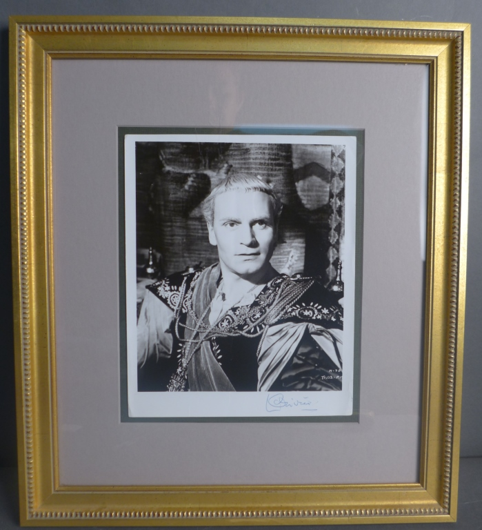 Laurence Olivier Autographed Photo