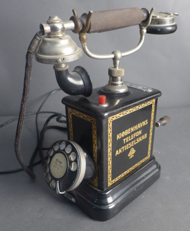 Antique KTAS Crank Rotary Telephone