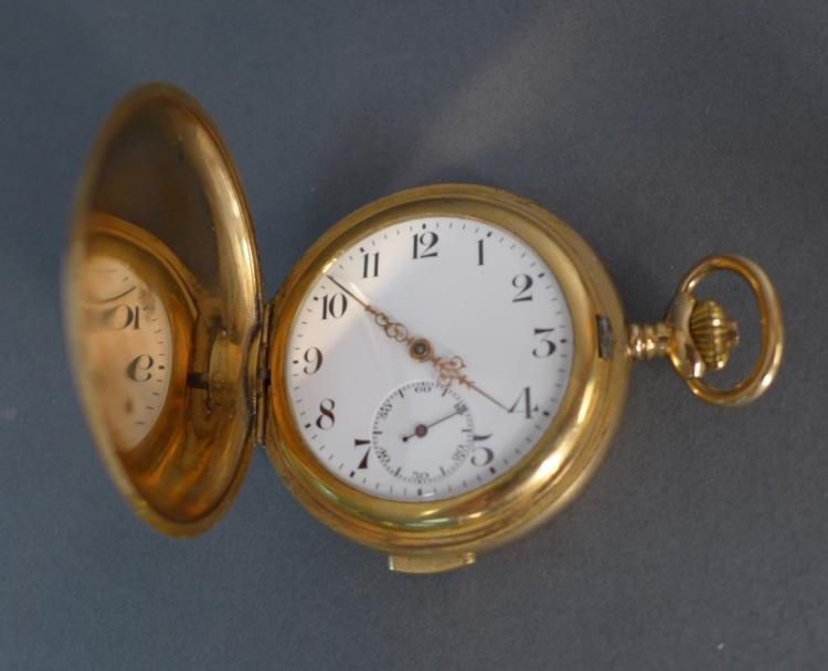 Swiss Gilt 1/4 Repeating Hunters Case Pocket Watch