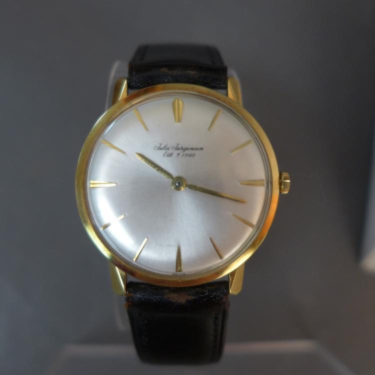 Vintage Jules Jurgensen Gold Wrist Watch