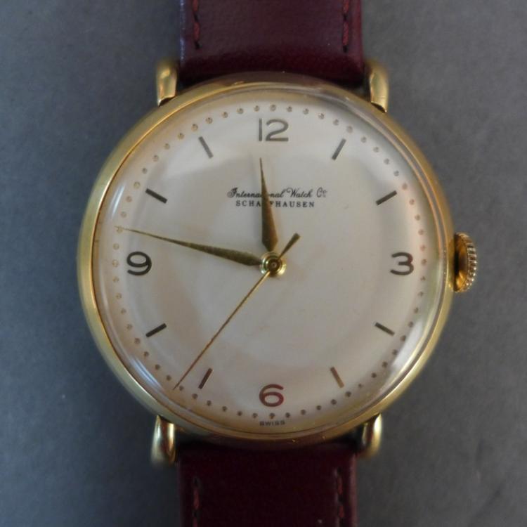 Gold IWC Schaffhausen Men's Wrist Watch