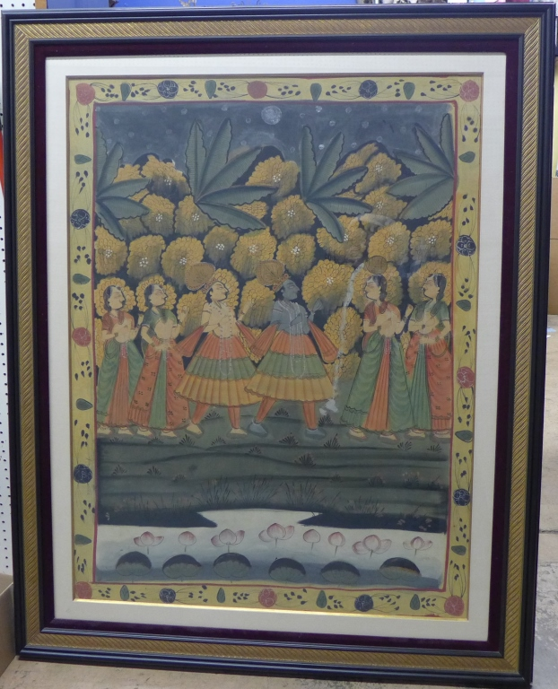 Monumental Asian Painting on Fabric