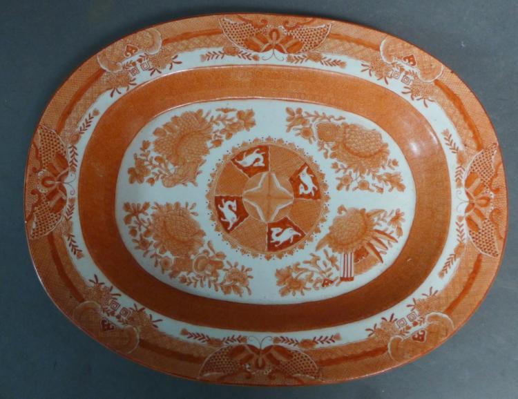 Orange Fitzhugh Platter
