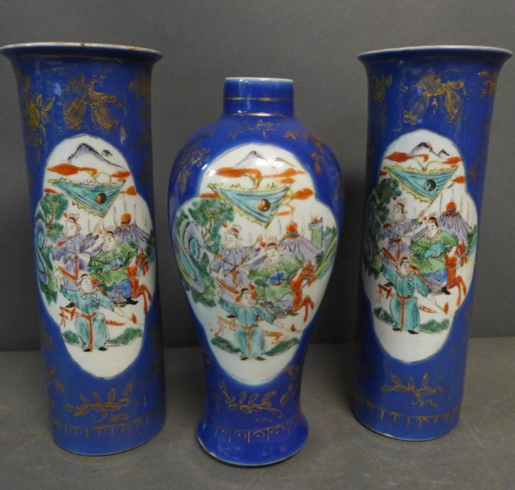 Antique Chinese Porcelain Garniture Set