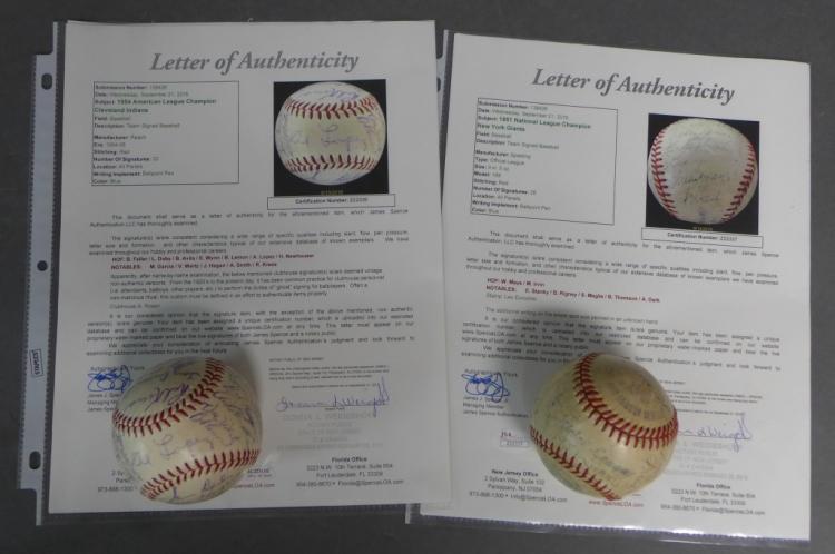 Two JSA Certified Autographed Team Baseballs
