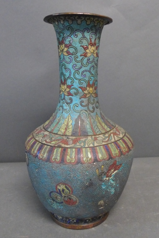 Antique Cloisonne Enamel Vase