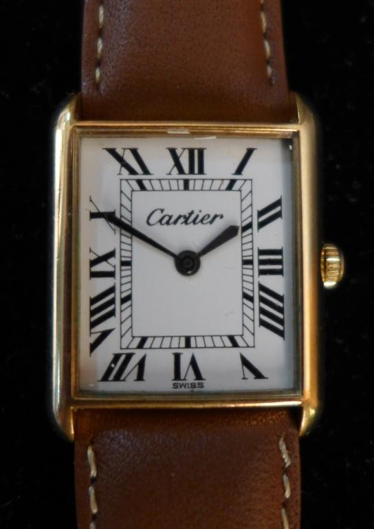 Cartier Gold Square Ladies Wrist Watch