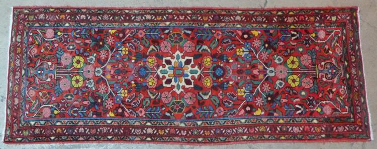 Vintage Red Hamadan Rug