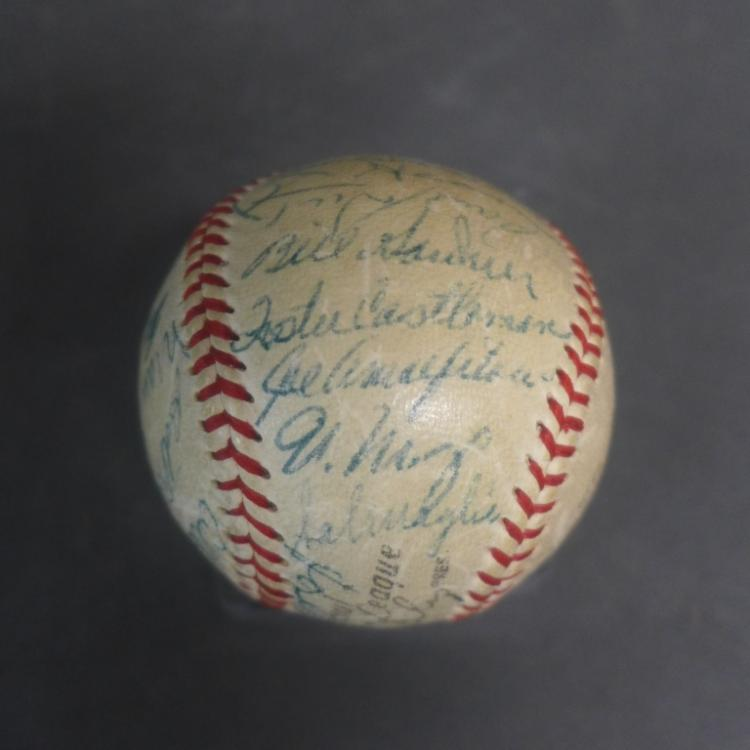 1954 WS NY Giants Team Signed Baseball w/ JSA