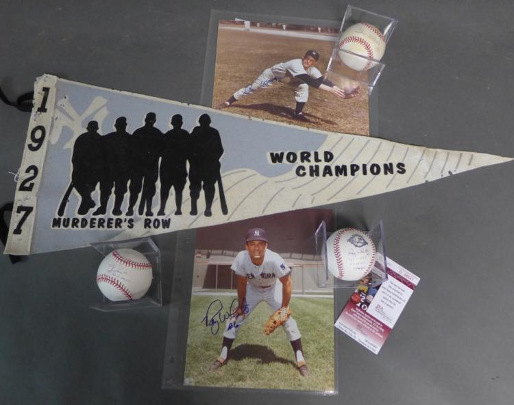 New York Yankees Autographs & Memorabilia