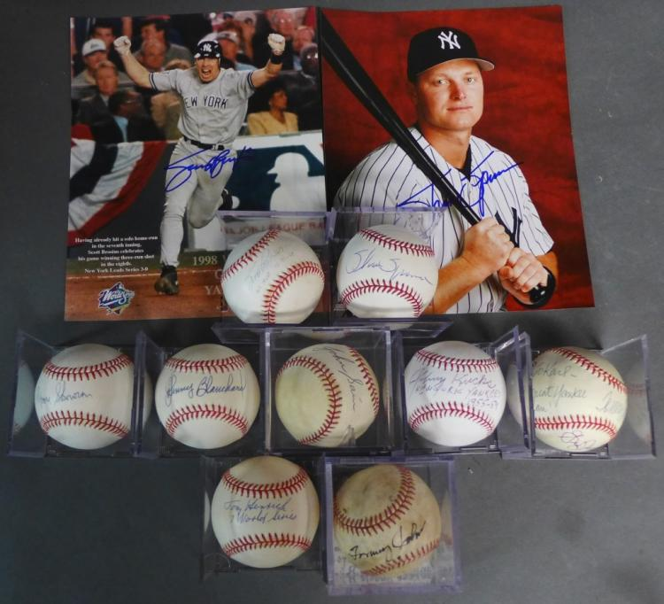 NY Yankee Autographs Baseballs & Photos