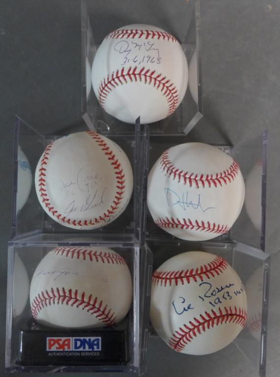 Five Autographed MLB Baseballs