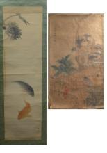 Two Hand Painted Asian Paper Scrolls