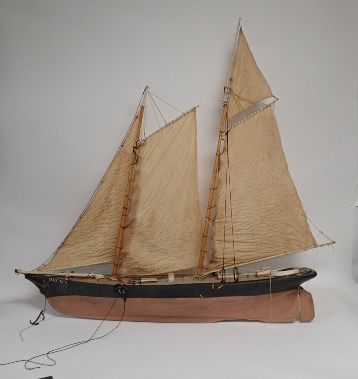 Large Two-Masted Sailboat Model