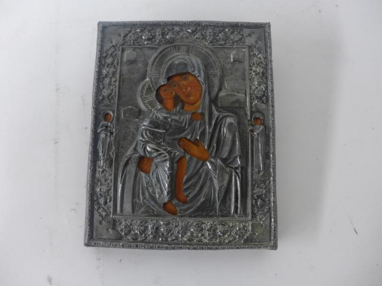 Russian Icon Mother Mary With Child