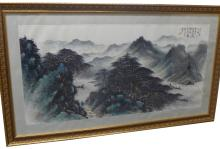 Monumental Mountainscape Watercolor