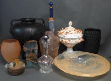 Modern Decorative Glass and Pottery