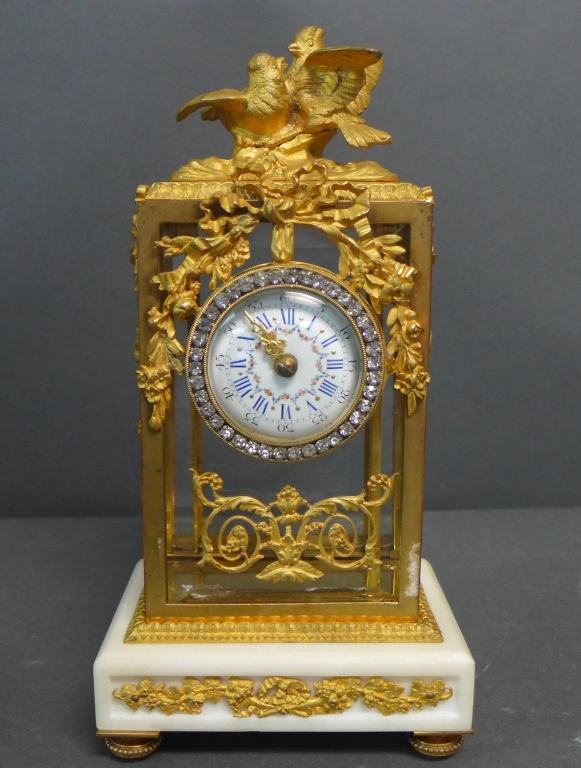 French Louis XVI Ormolu-Mounted Crystal Regulator