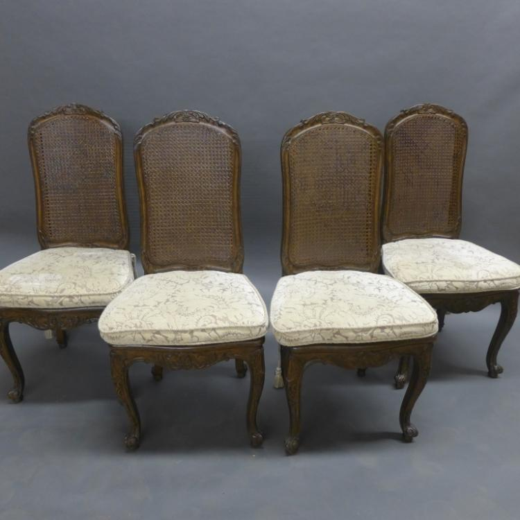 Set of 4 Louis XV Style Dining Chairs