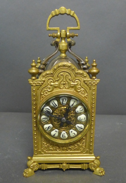 French Gothic Style Carriage Clock