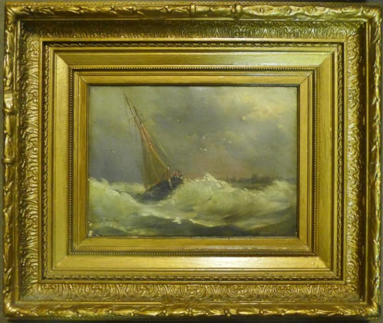 H. Morley Signed Seascape Painting