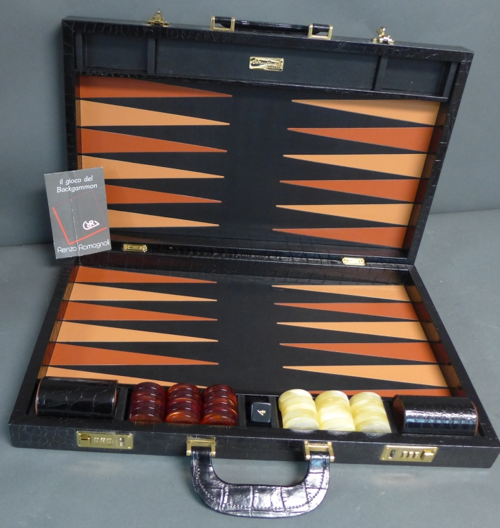 Large Renzo Romangoli Backgammon Set