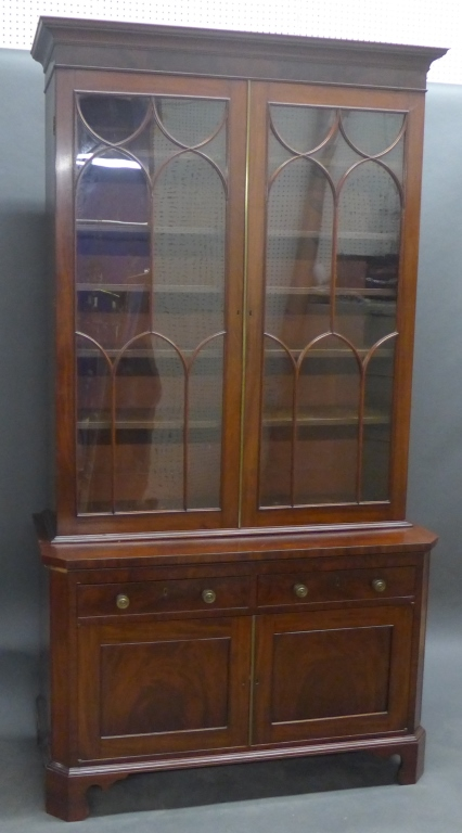 Antique Glass Front Bureau Bookcase