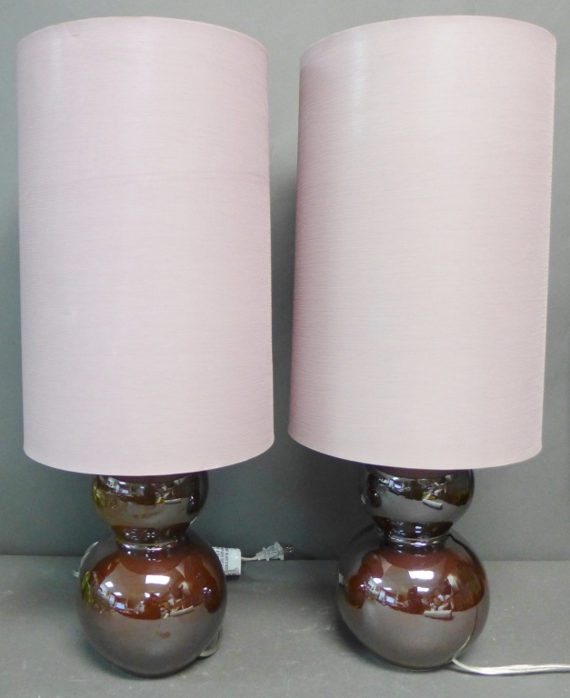 Pair Modern Ceramic Lamps