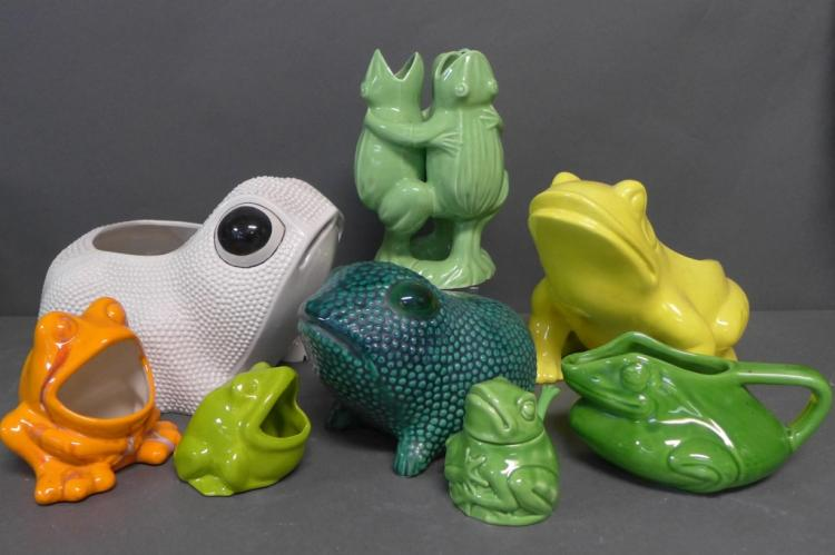 Modern Ceramic Frog Collection