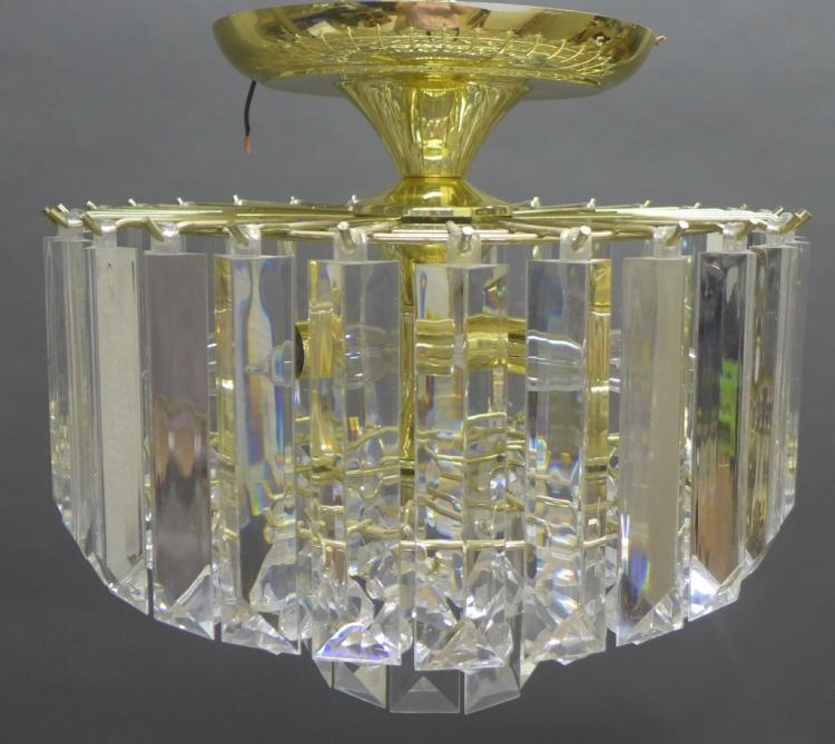 Mid Century Flush Mount Chandelier