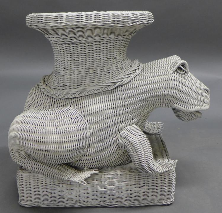 Versatile Wicker Frog Table/ Stand